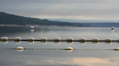 Early morning sun on buoys and floats Stock Footage