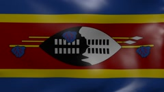 Swaziland strong wind flag Stock Footage