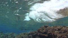 Wave Breaking on Reef Stock Footage