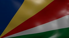 Seychelles strong wind flag Stock Footage