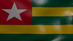 togo strong wind flag - stock footage