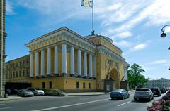 Admiralty Building.Saint-Petersburg - stock photo