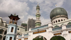 Chinese mosque, minaret, dome, pagoda - stock footage