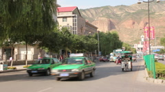 Xining, Qinghai, China, traffic Stock Footage