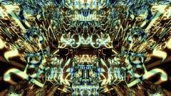 Traveling through a kaleidoscopic maze of digital data Stock Footage
