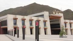 Lhasa Railway Station, mountains, Tibet Stock Footage