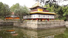 Tsokyil Potrang, Norbulingka Palace, Tibet Stock Footage