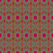 Seamless pattern red green - stock illustration