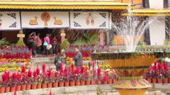Norbulingka Palace, Lhasa, Tibet Stock Footage