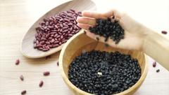 Beans red black and job's tear multi grain protein food Stock Footage