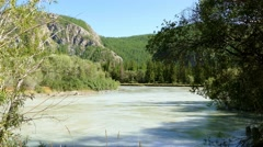 4k – Picturesque river of Altai (Siberia) 01 Stock Footage