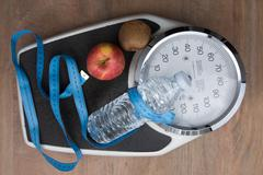 To control the weight , scale , water, fruits and sport Stock Photos