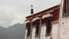 Karpo Potrang, Potala Palace, Lhasa, Tibet Stock Footage