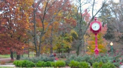 Indiana University Clock in Fall Stock Footage