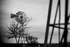 Soft focus arty look at wind mill Stock Photos