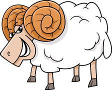 Ram farm animal cartoon Stock Illustration