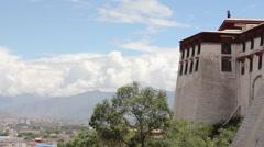 Potala Palace, mountains, Lhasa, Tibet Stock Footage
