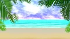 Animation magical beach Stock Footage