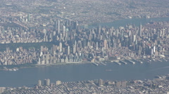 Manhattan aerial from from airplane 4K Stock Footage