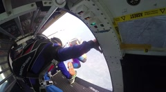 Skydiving in Norway - stock footage