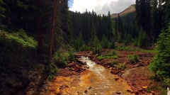 Moving Over Mountain River Colorado Stock Footage