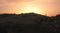 Mount of Olives  near the Old City of Jerusalem - stock footage