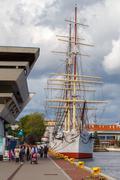 Gdynia. Marine Station. - stock photo