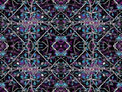 Geometric Luxury Floral Seamless Pattern Stock Illustration