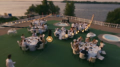 Wedding party top view Stock Footage