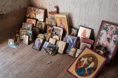 Picture  of saints, iconography - stock photo