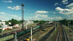 Sailing long trainset Stock Footage