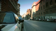 ULTRA HD 4K real time shot,Tourists visit Rome street view Stock Footage