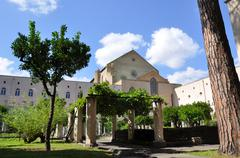 Santa Chiara is a religious complex in Naples, southern Italy - stock photo