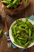 Homemade Sauteed Sugar Snap Peas - stock photo