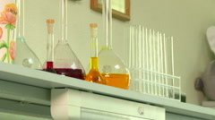 Test-tube in the laboratory Stock Footage
