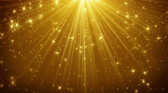 gold light rays and stars loopable background 4k (4096x2304) - stock footage