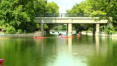 Summer Lake Traffic in the City Stock Footage