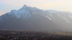 The Alps from the Salzburg Fortress Stock Footage