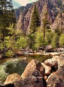 Kings River in Kings Canyon Stock Illustration