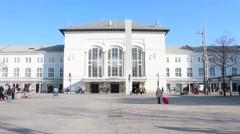 Stock Video Footage of Salzburg Train Station