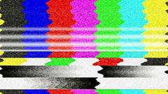 TV Color Bars Malfunction Stock Photos