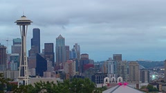 Seattle on a Cloudy Evening Stock Footage