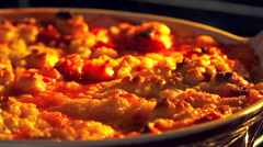 Stock Video Footage of Apple and berries crumble in oven 1 - End of cook