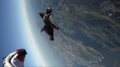 Wingsuit skydiving Stock Footage