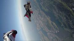 Wingsuit skydiving - stock footage