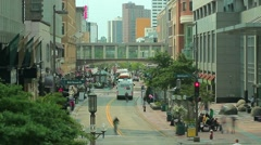Nicolette Ave in Downtown Minneapolis with Traffic Stock Footage