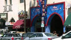 4K, UHD, Wax Museum on Hollywood Boulevard in Los Angeles, California Stock Footage