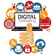 Stock Illustration of Illustration Graphic Vector Digital Marketing