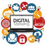 Illustration Graphic Vector Digital Marketing - stock illustration