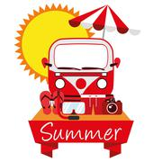 Illustration Graphic Vector Summer, Travel, Holiday - stock illustration
